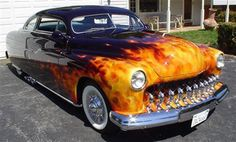 Mike Lavalle's signature True Fire paint on a chopped Merc