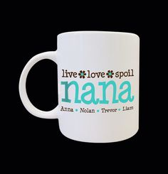 personalized coffee mug grandma nana by sugihharto on Etsy