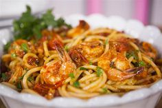 Linguine with Shrimp all'Amatriciana