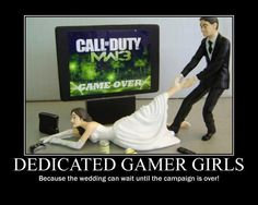 Dedicated gamer girls...