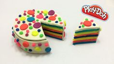 Playdoh Rainbow Cake   How to make Play Doh Cake   Kid Toys Playdough Cake, Play Doh, Playground, Cake Ideas, Rainbow, Kid, Toys, Desserts, How To Make