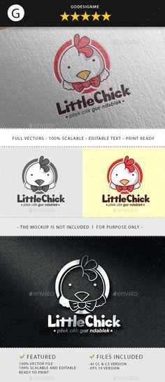 Little Chick — Vector EPS #leg #easter • Available here → https://graphicriver.net/item/little-chick/11003223?ref=pxcr