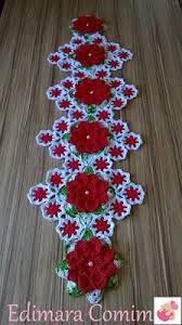 Resultado de imagen para caminhos de mesa em croche com a cor vermelha