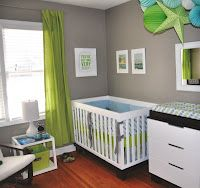 green and blue nursery