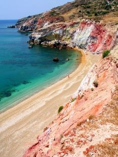 Greece Travel Inspiration - Rocks, sand and sea at Paleochori beach, Milos