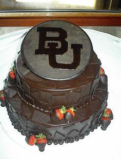 BU Baylor groom's cake