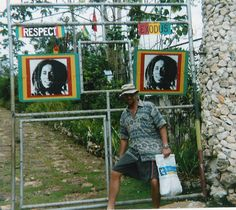 bob marley gravesite | Monty B. At The Gate To Bob Marley's Grave Marley And Me, Bob Marley, Marley Family, Ocho Rios, Places Of Interest, Vacation Spots, Jamaica, Caribbean, Gate