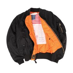 Alpha Industries - MA-1 Blood Chit Jacket (Black)
