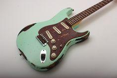Fender Custom Shop '60 Strat Relic (Surf Green over 3 Tone Sunburst)