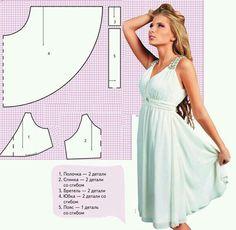 Nyári ruha szabásminta / Summer dress pattern