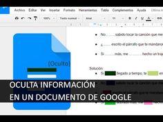 En este tutorial os explicamos cómo podemos ocultar diferente información dentro de un documento de texto de Google. Para más información visita nuestra pági...