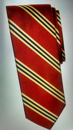 """Brooks Brothers Tie Red Black Gold Repp Stripe Power Tie retail $79 online 58""""  Can be purchased on Ebay  search seller: agift4thrift"""