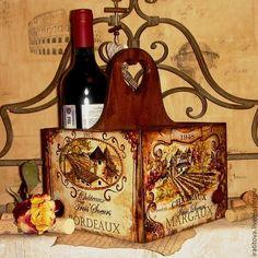 """Купить Короб """"Плесните колдовства"""" - коричневый, вино, для вина, для масла, короб для кухни, короб для вина"""