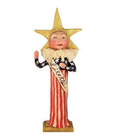 """I Pledge"" Liberty Lady | 4th of July Figurine designed by artist Debra Schoch. Bethany Lowe Statue of Liberty. Fourth of July Decorations. Americana decor.  TheHolidayBarn.com"