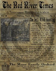 13 The Bell Witch Ideas Bell Witch Witch Haunted Places
