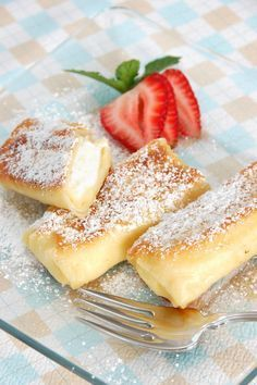 Filled spring rolls sweet - Sites new Homeade Desserts, Fun Desserts, Delicious Desserts, Yummy Food, Sweet Recipes, Cake Recipes, Dessert Recipes, Dessert Pots, Cheese Blintzes