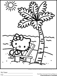 Free Hello Kitty Coloring Pages - http://fullcoloring.com/free-hello-kitty-coloring-pages.html