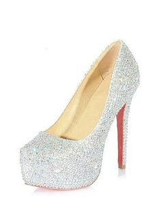 Sparkling Glitter Sheep Leather Silver Stiletto Heel Pumps Square-toed Bridal Party /  Evening Shoes   http://www.dressilyme.com/p-sparkling-glitter-sheep-leather-silver-stiletto-heel-pumps-square-toed-bridal-party-evening-shoes-16874.html