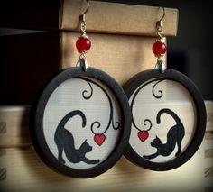 Heart cats earrings by Borhann on DeviantArt