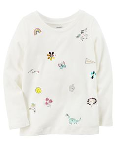 Toddler Girl Doodle Graphic Tee from Carters.com. Shop clothing & accessories from a trusted name in kids, toddlers, and baby clothes.
