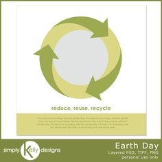 Pixel Scrapper Blog Train: Earth Day Template*