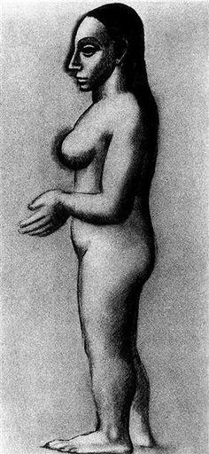 desnudo femenino de perfil - Pablo Picasso
