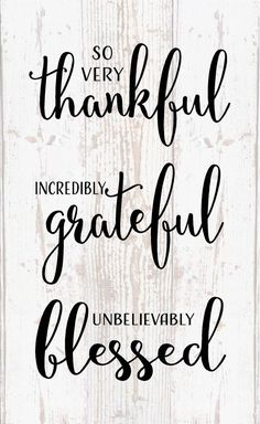Thankful Grateful Blessed Wood Sign, Canvas Inspirational - Office Decor, Bedroom, Bathroom, Thanksgiving, Christmas