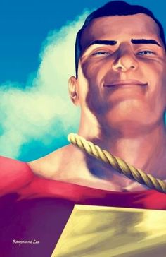 Captain Marvel / Shazam by Raymund Lee Dc Heroes, Comic Book Heroes, Comic Books Art, Comic Art, Dc Comics Characters, Dc Comics Art, Marvel Dc Comics, Original Captain Marvel, Captain Marvel Shazam