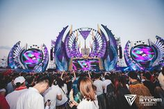 In Collaboration With China's Largest Electronic Festival Budweiser Storm Electronic Music Festival 2015 SAVE THE DATE: IMS, the world's most influential Concert Stage Design, Stage Set Design, Stage Decorations, Stage Lighting, Booth Design, Electronic Music, Heavy Metal, Karaoke, Design Inspiration