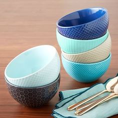 Textured Bowl Set #westelm