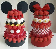 Marshmallow Cake, Candy Art, Candy Cakes, Minnie Mouse Cake, Minnie Birthday, Mickey Party, Candy Bouquet, Specialty Cakes, Candy Gifts