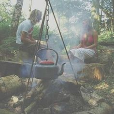camp fire cooking chitty tripod by green rabbit   notonthehighstreet.com