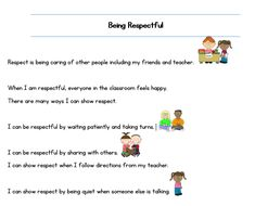 A social story made to teach children with Autism the importance of being respectful to others in the classroom. This is an effective and easy intervention to use for promoting the appropriate coping skills. Social Stories, Children With Autism, Coping Skills, Feeling Happy, Teaching Kids, Teacher Pay Teachers, Other People, Respect, Kindergarten