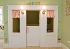 So sweet - the pint size dutch door works - and such cute sconces:) by Siena Custom Builders