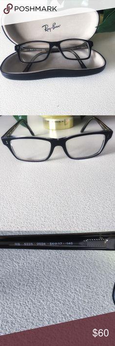 f7d1f8f09c83 Ray-Ban Prescription Eyeglass Frames w Case Ray-Ban RB 5225 2034 Black