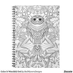 Color It Watchful Owl