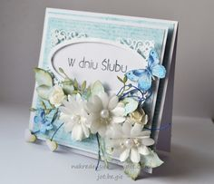 Letnie inspiracje Love Flowers, Paper Flowers, Pastel Colors, Wedding Cards, Cardmaking, Projects To Try, Envelopes, Poland, Frame