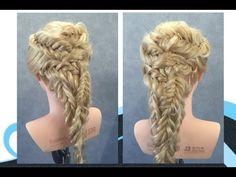 Visgraat vlechten fishtail braids - YouTube