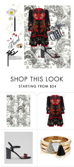 """""""Floral🌻🌼🌹"""" by soupiekitty on Polyvore featuring Alexander McQueen, New Look, Brixton and MAC Cosmetics"""