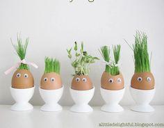 Eierschalen mit Kresse
