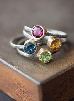 Simple stacked rings