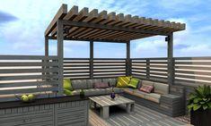 Pergola Ideas For Patio Pergola Diy, Modern Pergola, Cheap Pergola, Outdoor Pergola, Pergola Shade, Corner Pergola, Pergola Ideas, Pergola Roof, Pergola Lighting