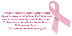 Breast cancer community board for news, research and information related to #breastcancer.
