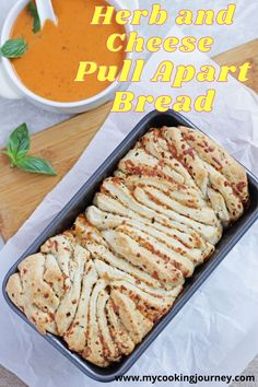 This classic Italian Garlic Herb and Cheese Pull Apart Bread is sure to be everyone's favorite at any holiday party. This Pull Apart Bread is so simple to make and perfect for entertaining. #bread #baking #pullapartbread #Garlicbread #herbbread #mycookingjourney #fallseason #fallbaking