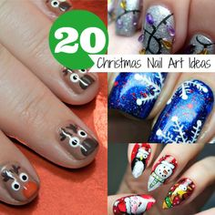 20 Christmas Nail Art Ideas. These are cute and easy to do!