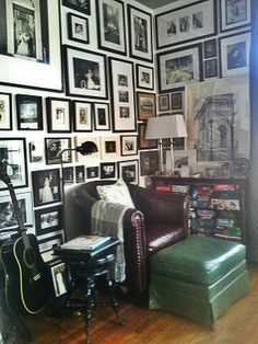 My reading corner & family gallery wall