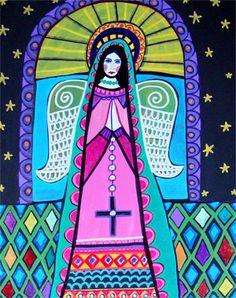 Angel Virgin of Guadalupe Virgin Mary Poster by HeatherGallerArt, $24.00