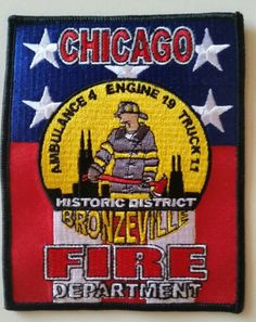 Chicago Fire Department Bronzeville - #FirePatch #Firefighting #Firefighters #Setcom