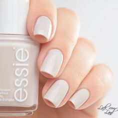 Love this pearly white polish 'between the seats' from the essie 2016 bridal collection.