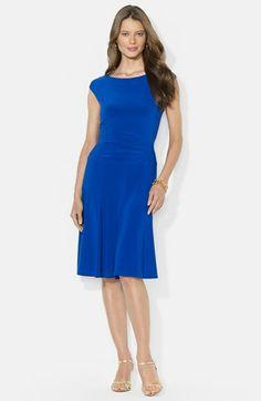 Lauren Ralph Lauren Flared Jersey Dress available at #Nordstrom